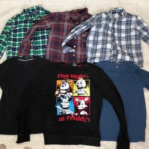 Boys Long sleeves top Lot Size 10-12